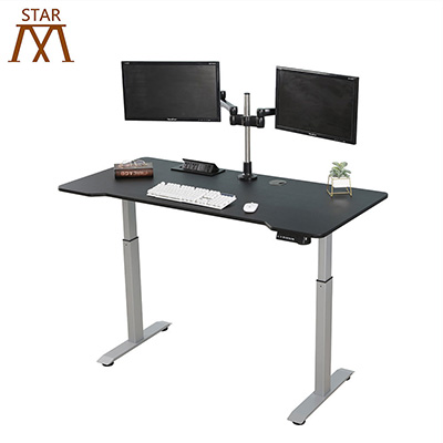 Electric height adjustable office standing desk frame lift