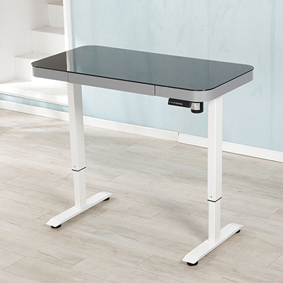 Computer table adjustable electric height sit stand electric desk table frame